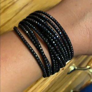 Swarovski slake deluxe bracelet, black